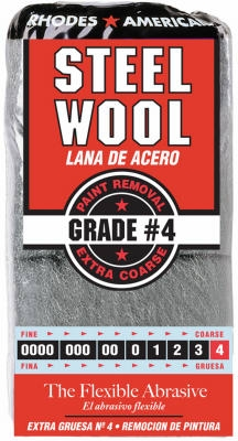 Steel Wool Pads, #4 Extra-Coarse, 12-Pk.