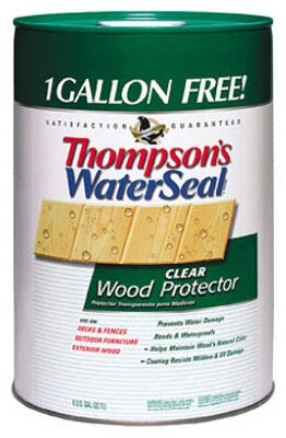 Wood Protector, Clear, 6-Gals.