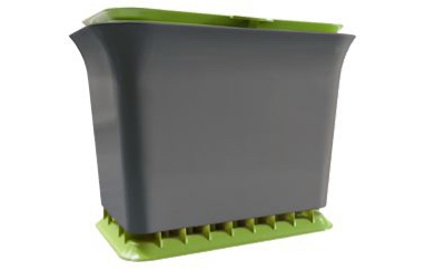 Fresh Air Kitchen Compost Collector, Green Slate, 1.5-Gals.