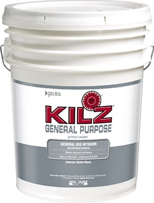 General-Purpose Interior Water-Based Primer,  5-Gallons