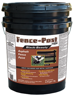 Fence-Post Black-Beauty Asphalt Fence Paint by Gardner