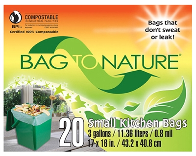 Compost Kitchen Bag, 3-Gal., 20-Ct.