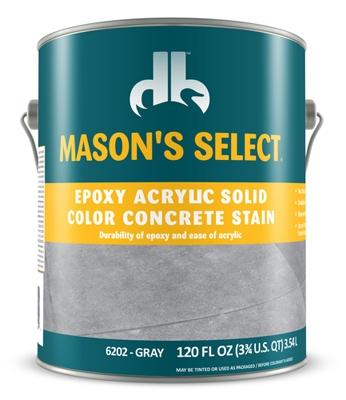 Epoxy Acrylic Solid Color Concrete Stain - Gray