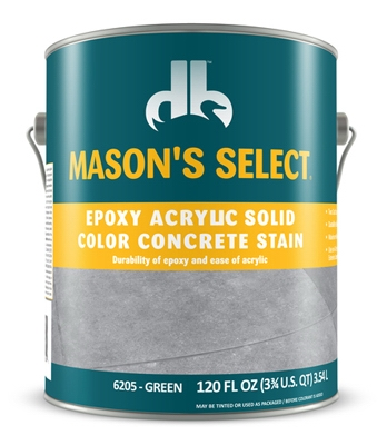 Epoxy Acrylic Solid Color Concrete Stain - Green
