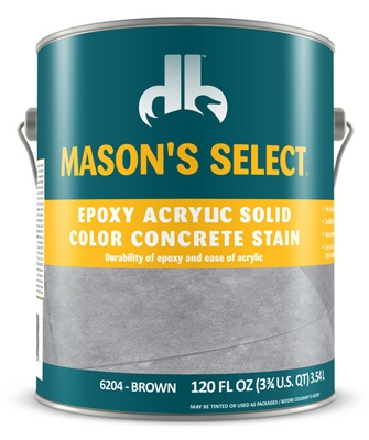 Epoxy Acrylic Solid Color Concrete Stain - Brown