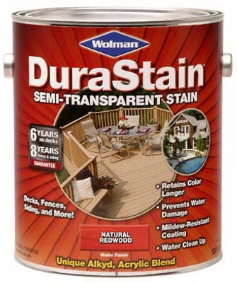 Durastain Redwood Semi-Transparent Wood Stain, Gallon