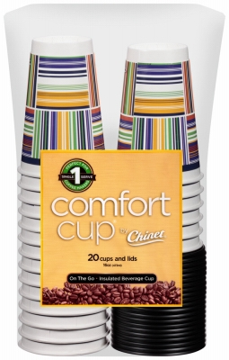 Insulated Cups With Lids, Disposable, 16-oz., 20-Ct.