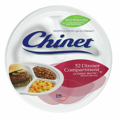 Dinner Plates, Disposable, White, 10-3/8-In., 32-Ct.