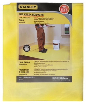 Speed Drop Area Dropcloth, 5 x 8-Ft.