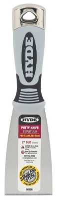 Putty Knife, Stiff Blade, 2-In.