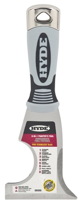 8-In-1 Painter's Tool, Stiff Steel Blade, 3-In.