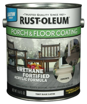 Porch & Floor Urethane Finish, Satin Tint Base, 1-Gal.