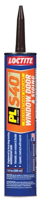 PL S40 Polyurethane Door, Window & Siding Sealant, Bronze, 10-oz. Cartridge