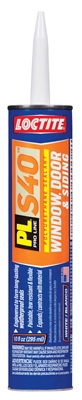 PL S40 Polyurethane Door, Window & Siding Sealant, White, 10-oz. Cartridge