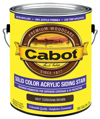 Solid Color Acrylic Siding Stain Cordovan Brown - Gallon