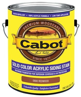 Solid Color Acrylic Siding Stain Redwood - Gallon