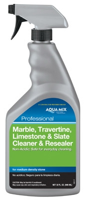 Marble, Travertine, Limestone & Slate Cleaner & Resealer, 1-Qt.