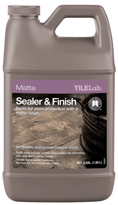 Tile & Stone Sealer & Finish, Matte, 1/2-Gal.