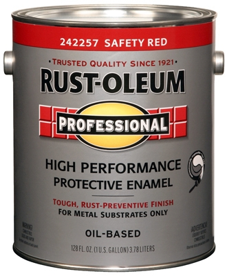 Professional Enamel Paint, Safety Red, 1-Gal.