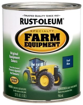 Farm Equipment Enamel Paint, Ford Blue, 1-Qt.