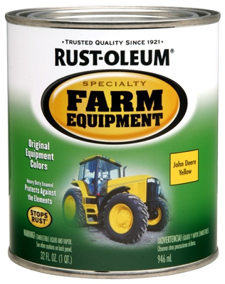 Farm Equipment Enamel Paint, John Deere Yellow, 1-Qt.