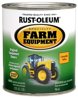 Farm Equipment Enamel Paint, Caterpillar Yellow, 1-Qt.