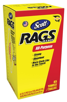 85-Pack Rag in a Box, White