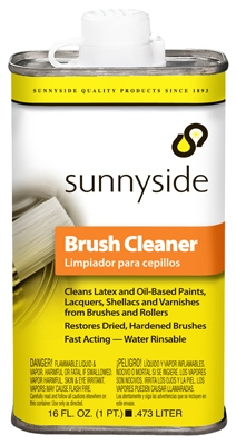 Brush Cleaner, Water-Rinsable, 1-Pt.