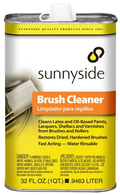 Brush Cleaner, Water-Rinsable, 1-Qt.