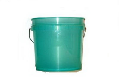 3.5-Gallon Green Heavy-Duty Plastic Pail