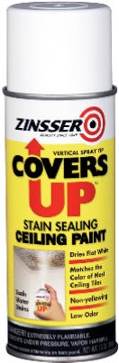 Covers Up Stain Sealing Ceiling Paint, 13-oz. Vertical Aerosol
