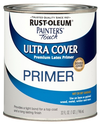 Painter's Touch Latex Primer, Gray, 1-Qt.