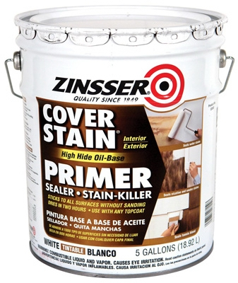 Cover Stain Primer, Sealer & Stain Killer, Oil-Base, 5-Gals.