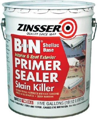 B.I.N. Primer Sealer, White, 5-Gals.
