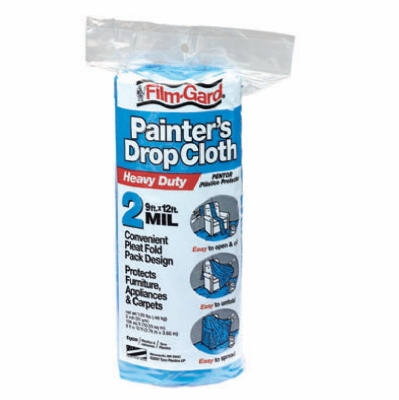 9 x 12-Ft. Blue 2-Mil Plastic Dropcloth