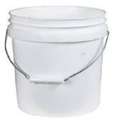 Industrial Pail, White Plastic, 2-Gals.