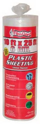 10 x 25-Ft. 6-Mil Clear Polyethylene Sheeting