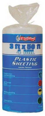3 x 50-Ft. 4-Mil Clear Polyethylene Sheeting