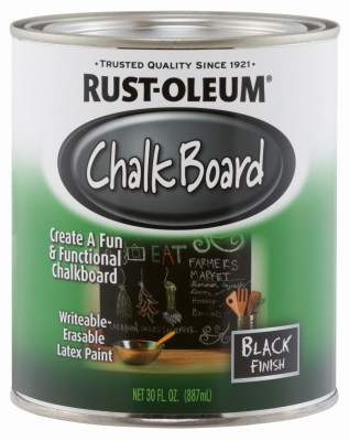 Qt. Black Chalkboard Brush On Latex Paint