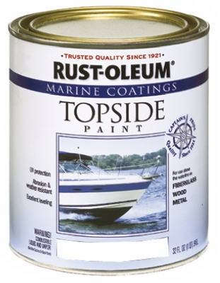 Marine Coatings Topside Paint, Gloss White, 1-Qt.