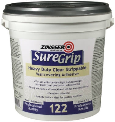 Sure Grip 1-Gallon 122 Heavy-Duty Clear Strippable Wallcovering Adhesive