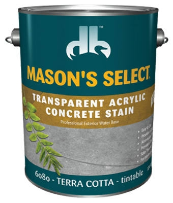 1-Gallon Terra Cotta Transparent Concrete Stain