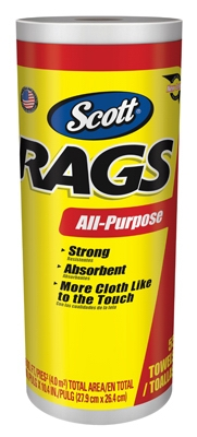 55-Count Scott Rags White Paper Towels