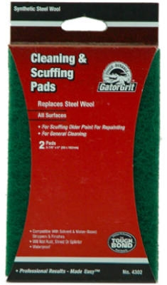 Cleaning & Stripping Synthetic Steel Wool, 3-7/8 x 6-In., 2-Pk.