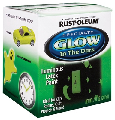 Glow-In-The-Dark Interior Latex Paint, 1/2-Pt.
