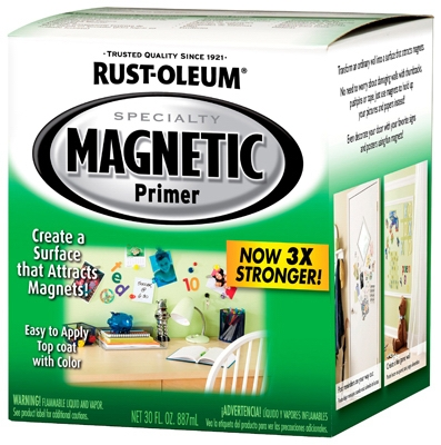 Premium Latex Magnetic Paint Primer, Qt.