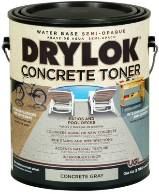 Concrete Toner, Water-Base, Gray, Gallon