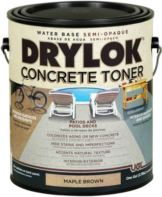 Concrete Toner, Water-Base, Maple Brown, Gallon