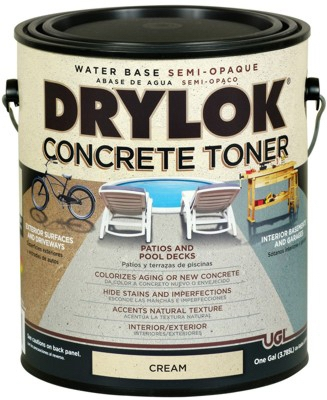 Concrete Toner, Water-Base, Cream, Gallon