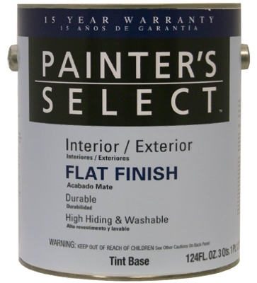 Acrylic Latex Paint, Flat Tint Base, 1-Gal.